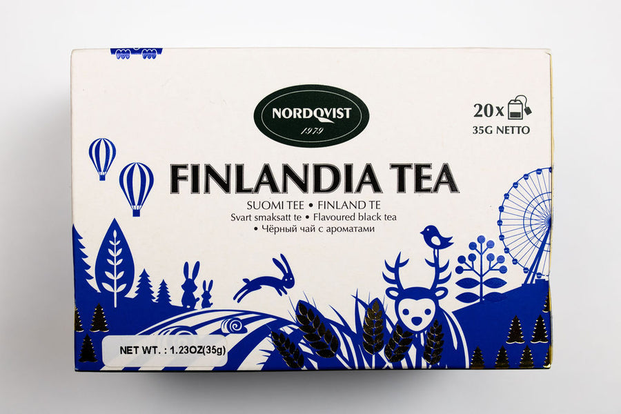 Nordqvist Finlandia Blueberry Flavored Black Tea Bags Box