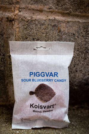 Kolsvart Piggvar Sour Blueberry Candy