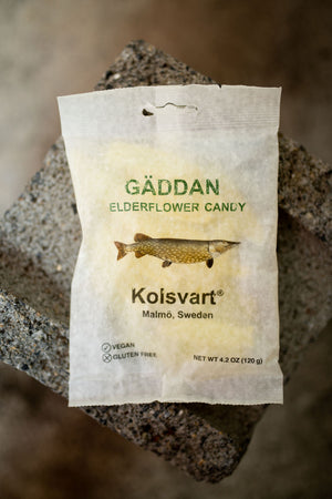 Kolsvart Gäddan Elderflower Candy