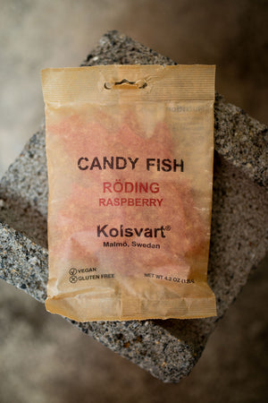 Kolsvart Candy Fish Röding Raspberry