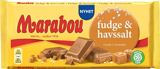 Marabou Fudge & Sea Salt 185g