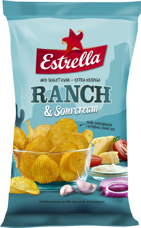 Estrella Ranch & Sourcream 175g Bag