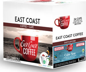 Calm Seas, Organic, Fair trade, Decaf Dark Roast Coffee, Recyclable, 24 K-Cups