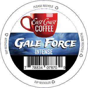 Gale Force, Dark Roast Coffee, Recyclable, 24 K-Cups