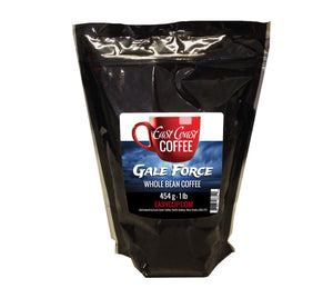 Gale Force, Dark Roast, Whole Bean Coffee, 1lb Bag