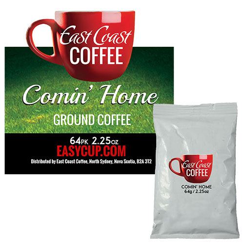 Comin' Home, Medium Roast, Ground Coffee, Fraction Packs 64 x 2.25 oz