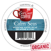 Load image into Gallery viewer, Calm Seas, Organic, Fair trade, Decaf Dark Roast Coffee, Recyclable, 96 K-Cups