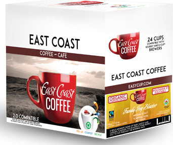 Fundy Fog Blaster, Medium Roast Coffee, Organic, Fair Trade, Recyclable, 24 K-Cups