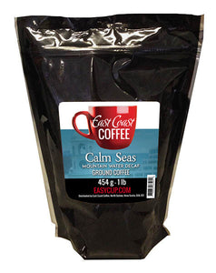 Calm Seas, Decaf Dark Roast, Ground Coffee, 1 lb Bag
