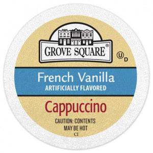 Grove Square Cappuccino Mix, French Vanilla, 96 K-Cups