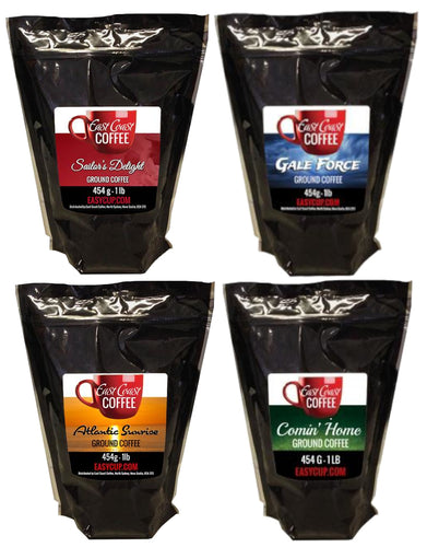Variety Pack, 4, 1 lb Bags Ground Coffee