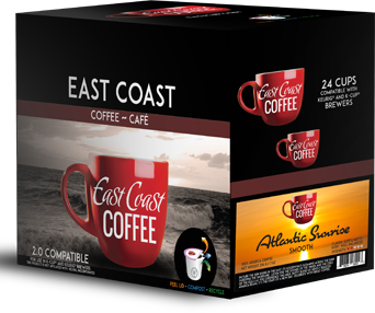 Atlantic Sunrise, Light Roast Coffee, Recyclable, 24 K-Cups