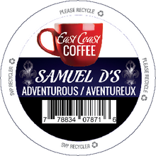 Load image into Gallery viewer, Samuel D's, Dark Roast Coffee, Recyclable, 24 K-Cups