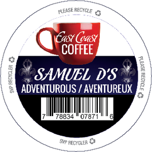 Samuel D's, Dark Roast Coffee, Recyclable, 24 K-Cups