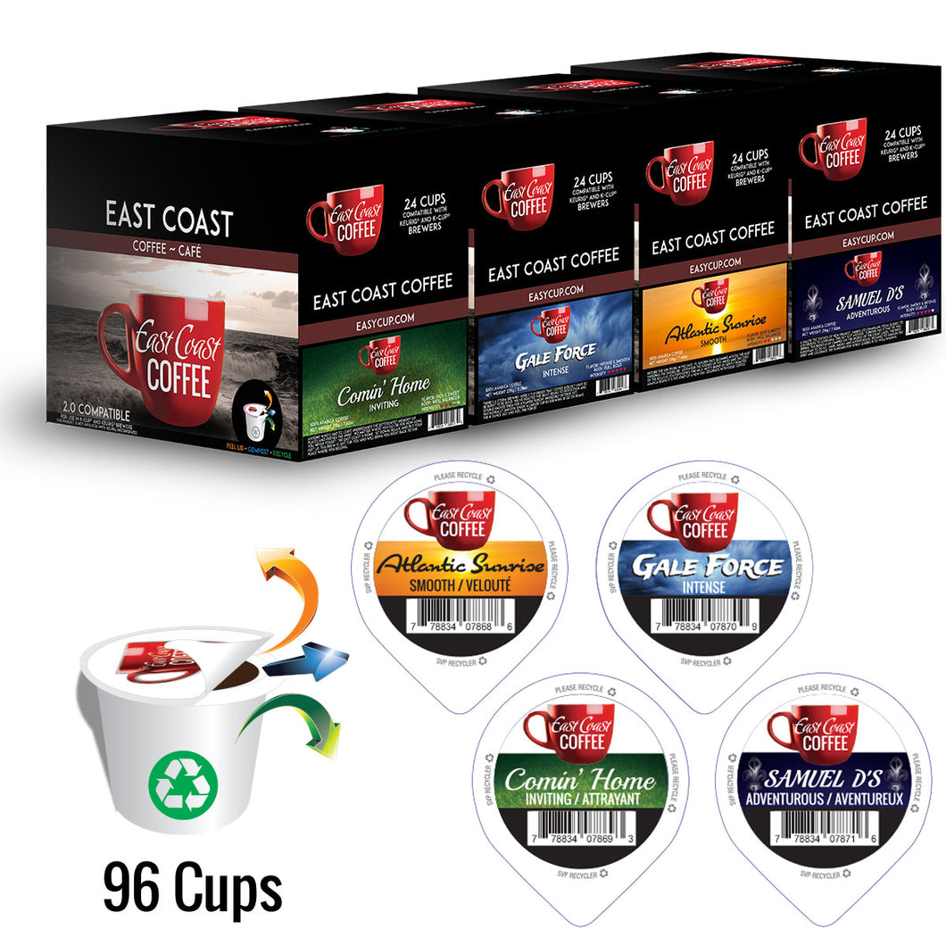 Variety Pack, 96 K-Cups, Recyclable