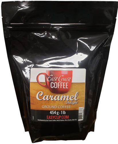 Caramel Delight, Ground Coffee, 1 lb Bag