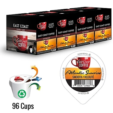 Atlantic Sunrise, Light Roast Coffee, Recyclable, 96 K-Cups