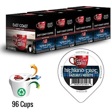 Highland Grog, Hazelnut Flavour Coffee, Recyclable, 96 K-Cups