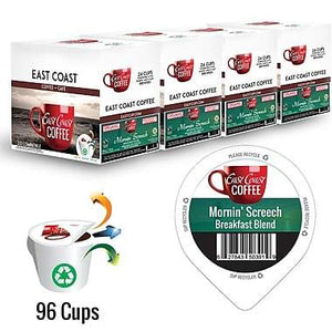 Mornin' Screech, Light Roast Coffee, Organic, Fair Trade, Recyclable, 96 K-Cups