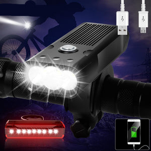 20000 Lumens LED USB Rechargeable 5200mAh Bike Light IPX5 Waterproof LED Headlight