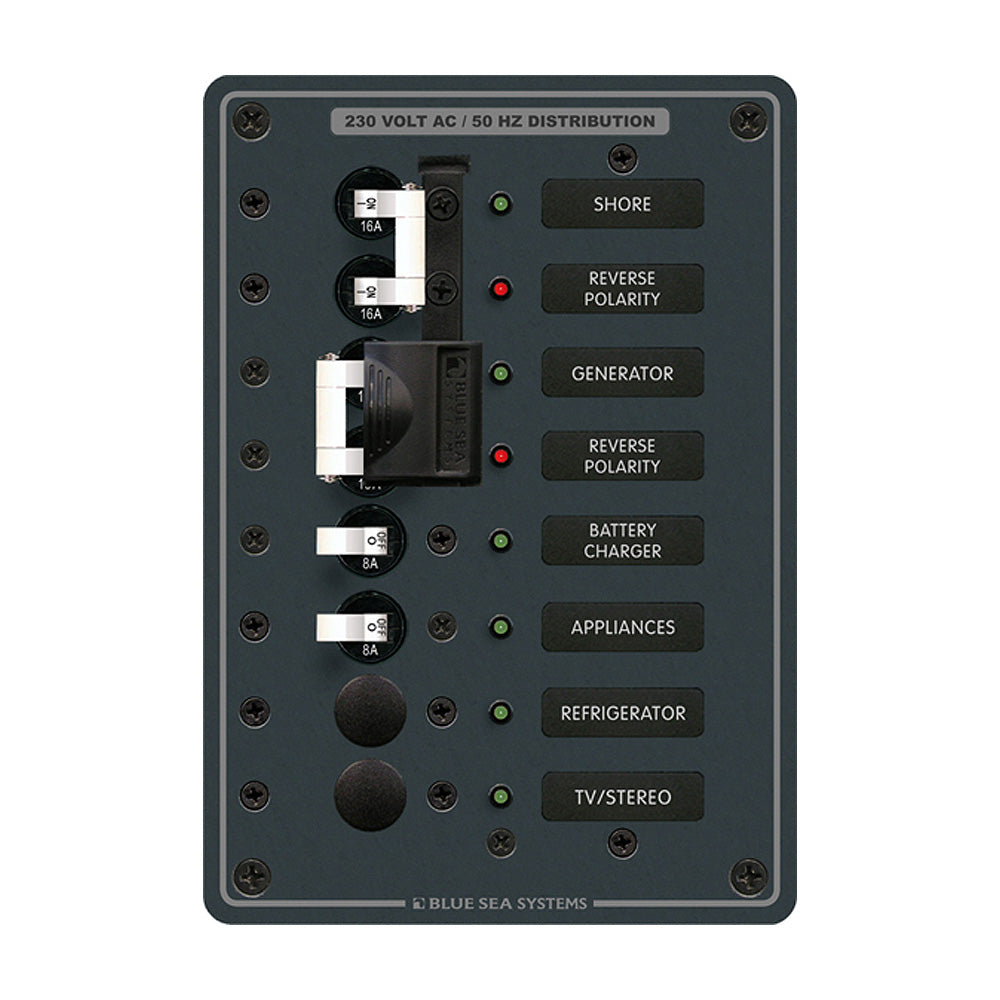 Blue Sea 8567 AC Toggle Source Selector (230V) - 2 Sources + 4 Positions [8567]
