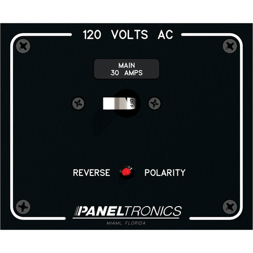 Paneltronics Standard Panel AC Main Double Pole w/30Amp CB & Reverse Polarity Indicator [9982316B]