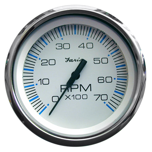 "Faria Chesapeake White SS 4"" Tachometer - 7,000 RPM (Gas - All Outboards) [33817]"