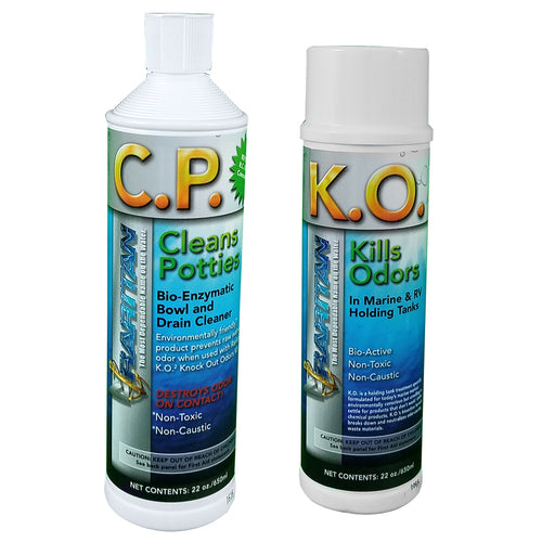 Raritan Potty Pack w/K.O. Kills Odors  C.P. Cleans Potties - 1 of Each - 32oz Bottles [1PPOT]