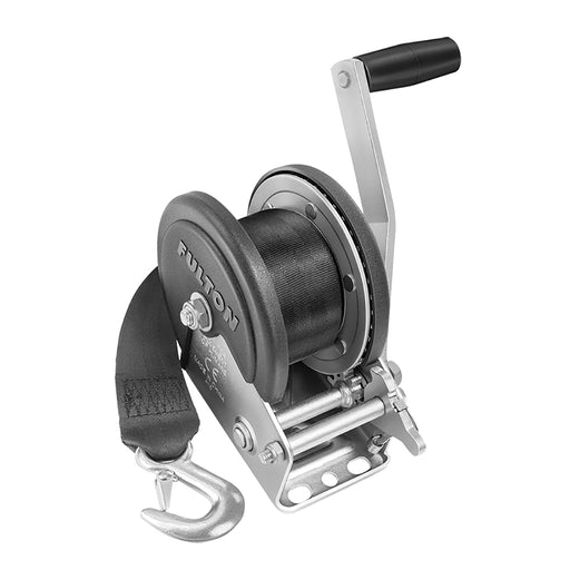 Fulton 1500lb Single Speed Winch w/20 Strap  Cover [142208]