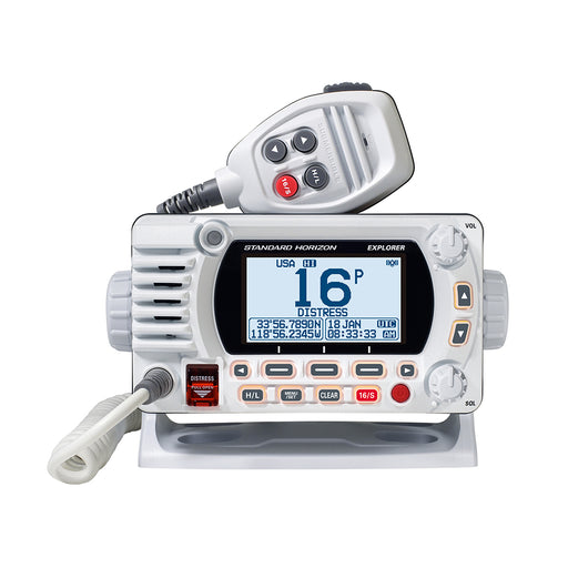 Standard Horizon GX1800G Fixed Mount VHF w/GPS - White [GX1800GW]