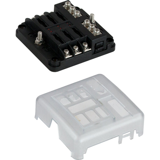 Sea-Dog Blade Style LED Indicator Fuse Block w/Negative Bus Bar - 6 Circuit [445185-1]