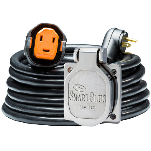 SmartPlug RV Kit 30 Amp 30 Dual Configuration Cordset - Black (SPX X Park Power)  Stainless Steel Inlet [R30303BM30NT]