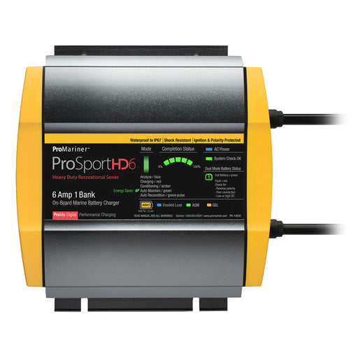 ProMariner ProSportHD 6 Gen 4 - 6 Amp - 1 Bank Battery Charger [44006]