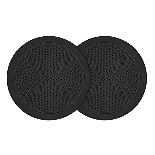 "FUSION FM-F65RB FM Series 6.5"" Flush Mount Round Marine Speakers - Black Grill - 120W [010-02299-01]"