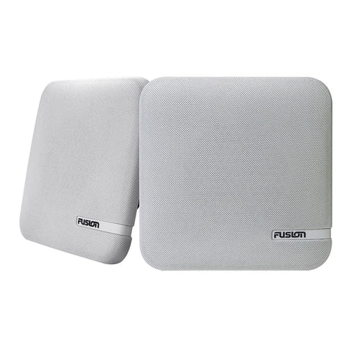 "FUSION SM-F65CW SM Series 6.5"" Shallow Mount Square Speakers - White Cloth Grill - 100W [010-02263-10]"