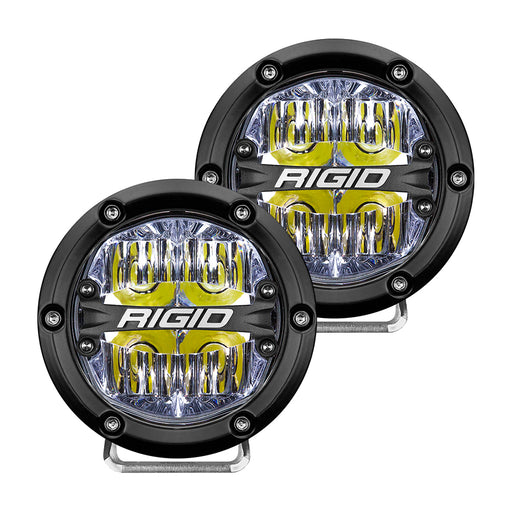 "RIGID Industries 360-Series 4"" LED Off-Road Fog Light Drive Beam w-White Backlight - Black Housing [36117]"