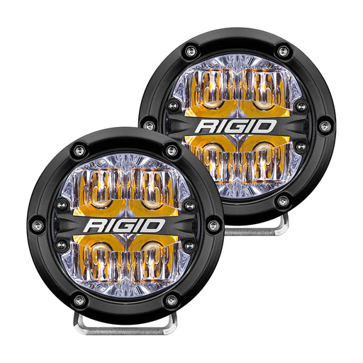 "RIGID Industries 360-Series 4"" LED Off-Road Fog Light Drive Beam w-Amber Backlight - Black Housing [36118]"