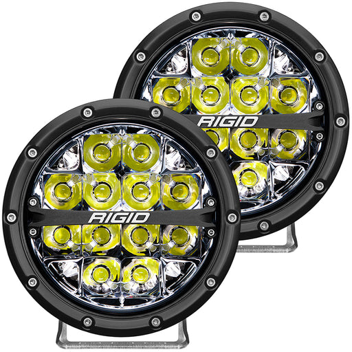 "RIGID Industries 360-Series 6"" LED Off-Road Fog Light Spot Beam w-White Backlight - Black Housing [36200]"