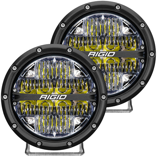 "RIGID Industries 360-Series 6"" LED Off-Road Fog Light Drive Beam w-White Backlight - Black Housing [36204]"