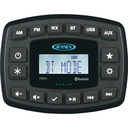 "JENSEN 4"" JMS4RTL Waterproof Bluetooth AM/FM/WB/USB Stereo - Black [JMS4RTL]"