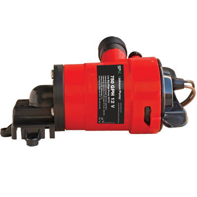 Johnson Pump Low Boy Bilge Pump, 1250GPH, 12V