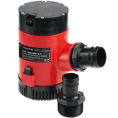 Johnson Pump HD Bilge Pump, 4000GPH, 12V, No Switch