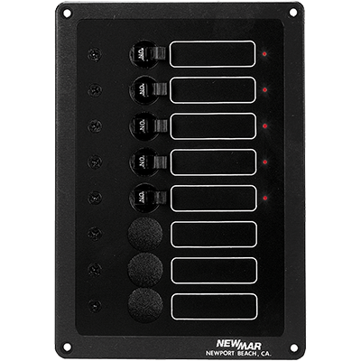 Newmar Accy Panel, DC, 8 Position, 5 Breakers
