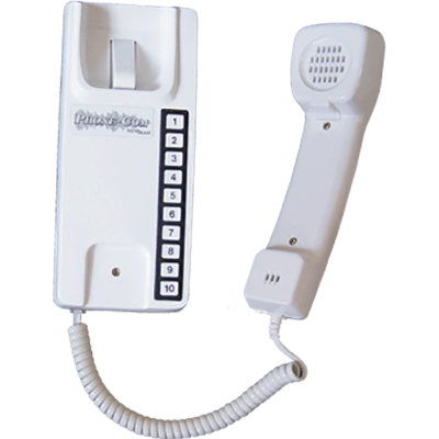 Newmar Phone Com Handset, 10 Station, White