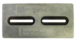 "Performance Metals Divers Plate Aluminum Anode 12"" X 6"""