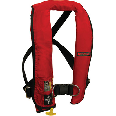 Revere Lifevest, Type V, Auto, Red w/ Harness