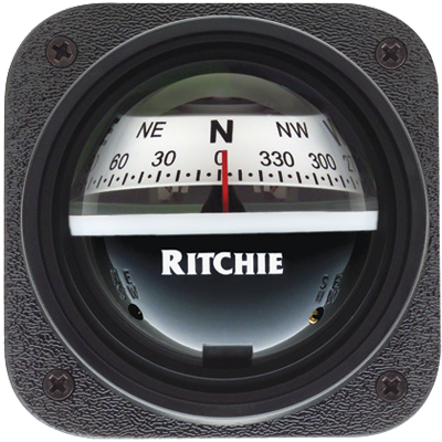 "Ritchie Navigation Compass, Bulkhed/Slope, 2.75"" Dial, Grey"