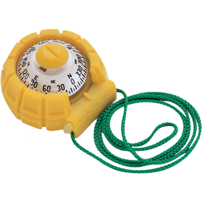 "Ritchie Navigation Compass, Handheld, 2"" Dial, Yellow"