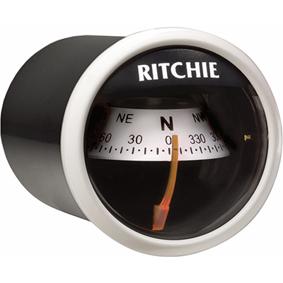 "Ritchie Navigation Compass, Dash Mount, 2"" Dial, White"