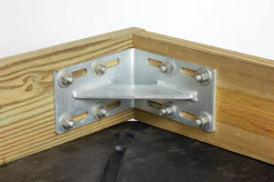 Tie Down Inside Corner Galvanized Dock Hardware